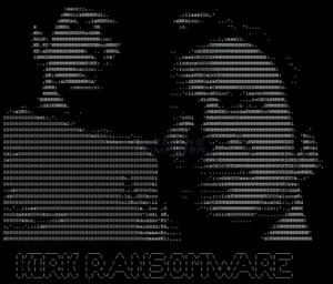 ASCII art of Spock and Captain Kirk discovered by Jakub Kroustek in Kirk ransomware