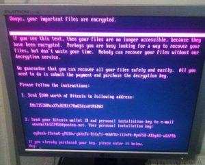 NotPetya malware ransom note